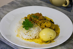Chicken Curry with Eggs served on Rice #1